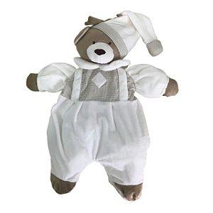 Porta Pijama Urso Nino Marfim - Zip Toys
