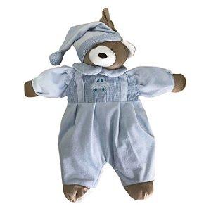 Porta Pijama Urso Nino Azul - Zip Toys