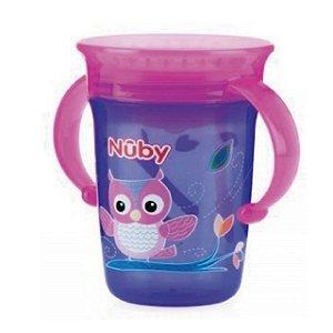 Copo treinamento 360 – Nuby – Roxo e Rosa - Corijinha – 240 ml – Nuby