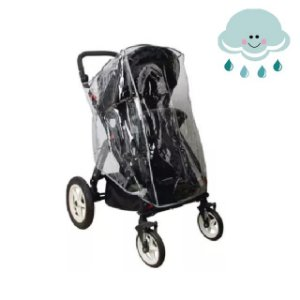 Capa de Chuva Universal para Carrinhos de Bebê - Rain Drops