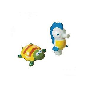 Brinquedo Animais do Mar para Banho - Cavalo Marinho e Tartaruga - Girotondo Baby
