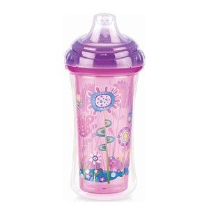 Copo Térmico com bico de silicone e Trava - Flor - 270 ml – Nuby