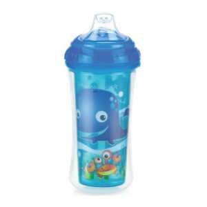 Copo Térmico com bico de silicone e Trava - Fundo do Mar - 270 ml – Nuby