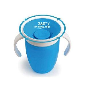 Copo 360 graus de treinamento Antivazamento com Alças  - 207 ml - Azul - Munchkin
