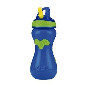 Copo Gator com Canudo Rígido Retrátil - Azul  - 450 ml - Nuby