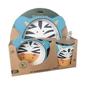 Kit Alimentação Infantil 5 peças Eco - Zebra  – Girotondo Baby