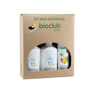 Kit Box Casa (2 Detergente Mamadeira + 1 Limpeza de Frutas e Vegetais) - Bioclub Baby