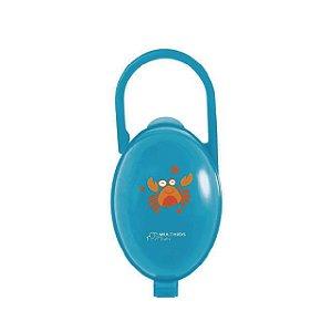 Porta Chupetas Paci Clean - Caranguejo Azul - Multikids Baby