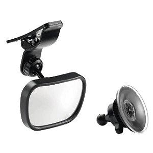 Espelho retrovisor para carro 2 em 1 safe travel preto - Multikids Baby