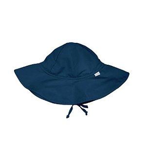 Chapéu de Banho Infantil com FPS+50 - Azul Marinho - Iplay