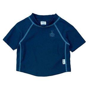 Camiseta Blusa Infantil de Banho Manga Curta Azul Marinho FPS 50+ Iplay
