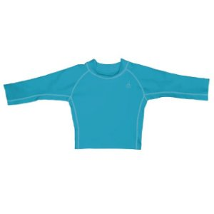 Camiseta Blusa Infantil de Banho Manga Longa Aqua FPS 50+ Iplay