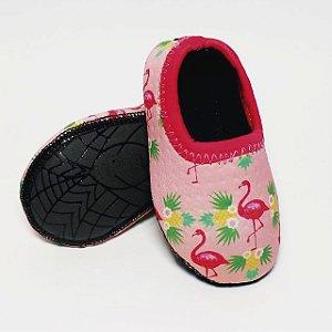 Sapatilha confortável, antitérmica e antiderrapante - Ufrog Flamingo Rosa