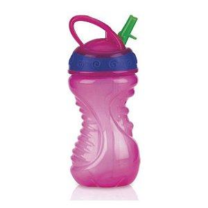 Copo Easy Grip com bico rígido retrátil 300 ml rosa +12m Nuby