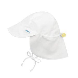 Chapéu de Banho Infantil tipo Australiano com FPS+50 - Branco - Iplay