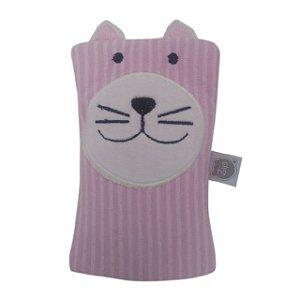 Bolsa Térmica Carinhas - Gato Rosa - Zip Toys