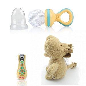 Kit Presente Bebê Amarelo Divertido