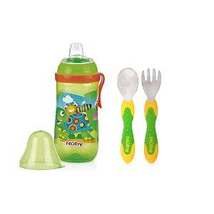Kit Presente Bebê Verde Alimentação