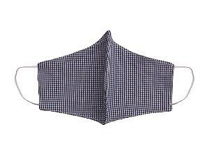 Máscara de Tecido - Unissex - ADULTO - Xadrez Azul Marinho - Zip Toys