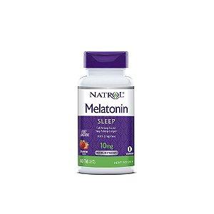 Melatonina 10mg Sub-Lingual 60 Tabs Ação Rápida -Natrol