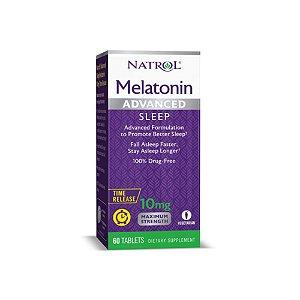 Melatonina Advanced 10mg 60 Tabs Sub-Lingual Time Release - Natrol