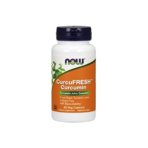 Curcu Fresh Curcumin 60 Caps - Now