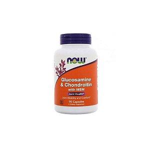 Glucosamine e Chondroitin com MSM 90 Caps - Now