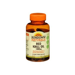 Red Krill Oil 1000mg 60Caps - Sundown Naturals