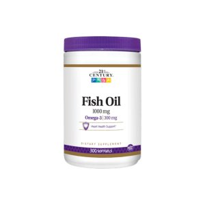 Óleo de Peixe Fish Oil Omega 3 1000mg 300 Softgel - 21ST Century