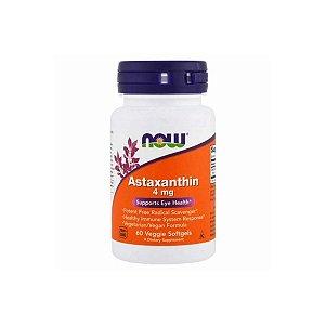 Astaxantina 4mg 60 capsulas - Now