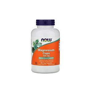 Magnesium Caps 400 mg 180 Caps - Now Foods