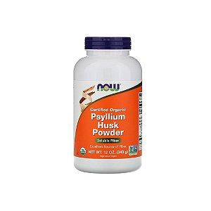 Psyllium Husk Powder Soluble Fiber 340g - Now Foods