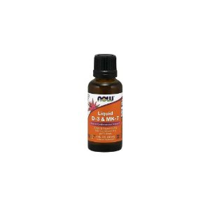 Vitamina D3 e MK7 Liquida 2500ui/100mcg 30ml - Now Foods