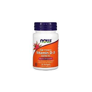 Vitamina D3 2.000ui 30 Softgels -  Now Foods
