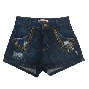 SHORT JEANS HOT PANT DETONADO COM CORRENTES