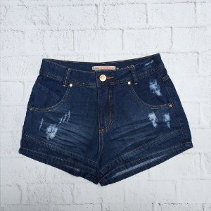 HOT PANTS JEANS BAINHA DUPLA