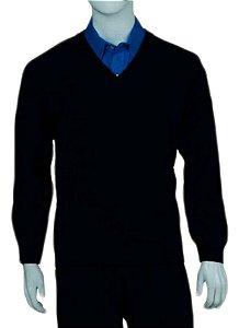 Pullover gola v masculino