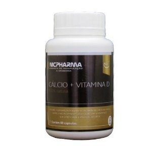 Cálcio 600mg com Vitamina D 200Ui 60 cápsulas Nicpharma