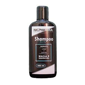 Shampoo para Barba 200ml Nicpharma