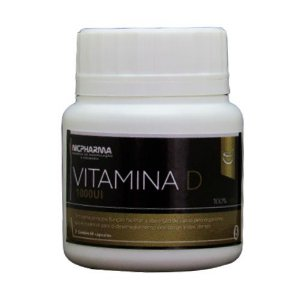 Vitamina D 1000Ui 60 cápsulas Nicpharma