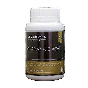 Guarana e Açai, Vitaminas e Minerais 30 cápsulas Nicpharma