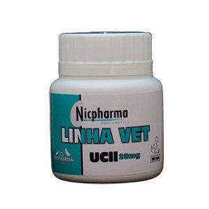 UC II 20MG 30 cápsulas Linha Vet Nicpharma