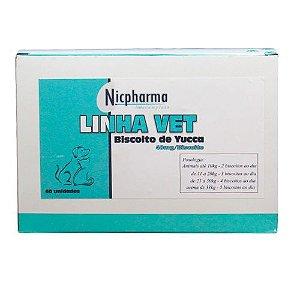 Biscoito de Yucca 40mg/un 60un Vet Nicpharma