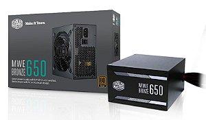 Fonte Cooler Master MWE 650W Bronze W/O Power Cord