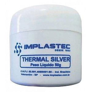 Pasta Térmica Implastec Thermal Silver, Pote de 50g