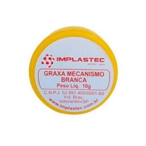 GRAXA MECANISMO IMPLASTEC 10G BRANCA