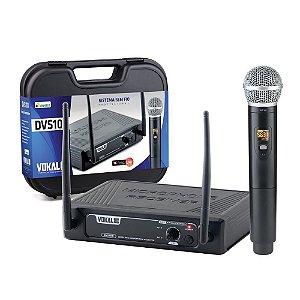 Microfone Sem Fio Vokal Uhf Igreja Dvs100