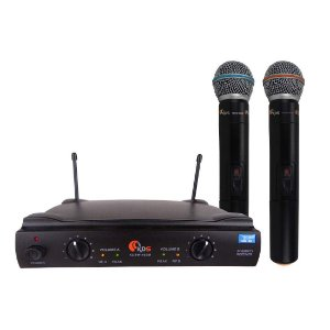 Microfone Sem Fio Duplo Uhf Kadosh K 402 M
