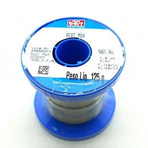 Estanho 125g Solda Best Azul 60/40 Original 1mm 189 MSX
