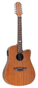 Violão Strinberg Folk Sd220c Mgs 12 Cordas Black Mahogany